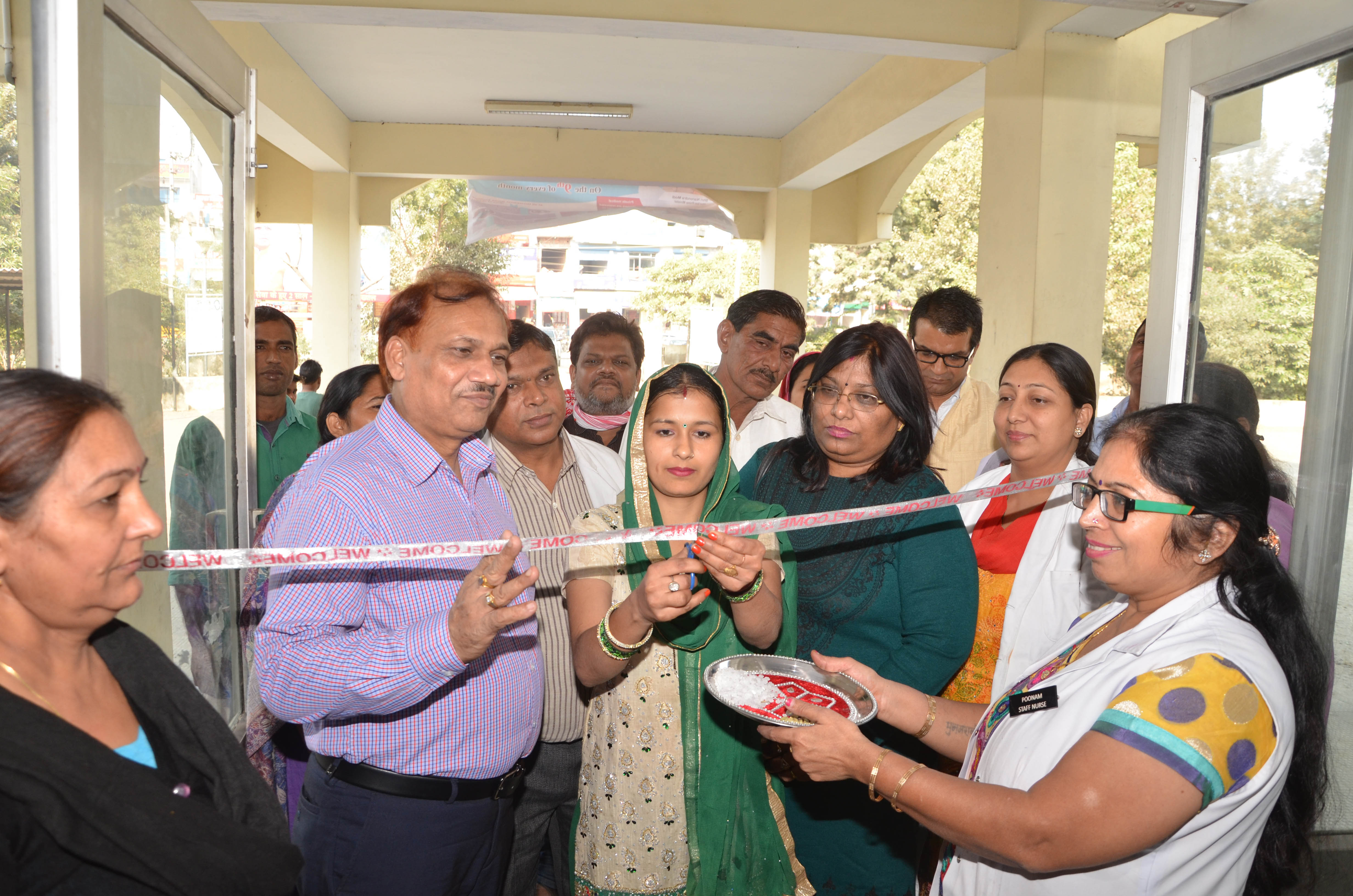 Dr Satbir singh with Area counsellor inaugurate the PMSMY at Community Heath Center,Nisang karnal