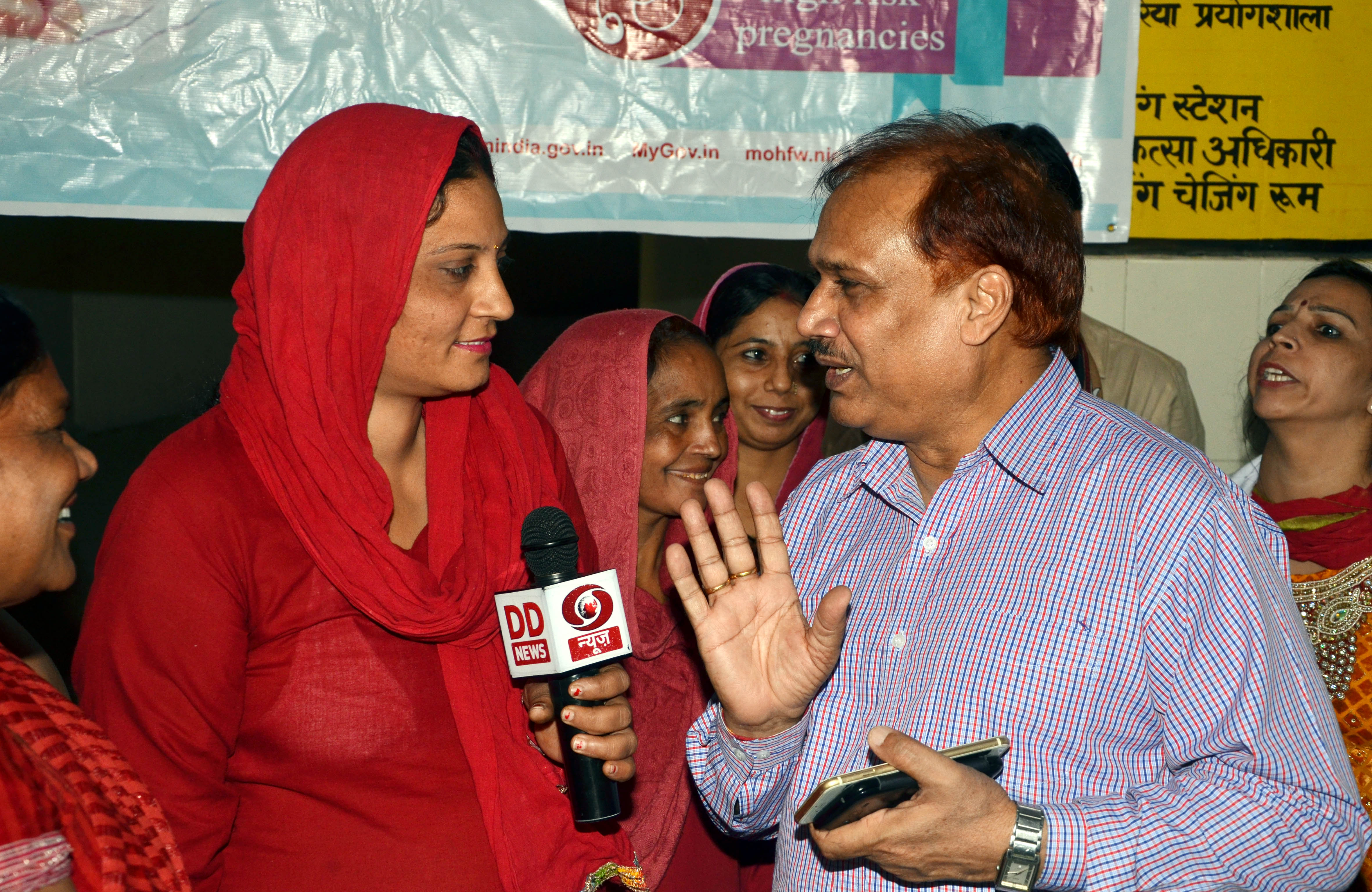 Dr Satbir singhWith Asha Worker at Community Heath Center,Nisang karnal